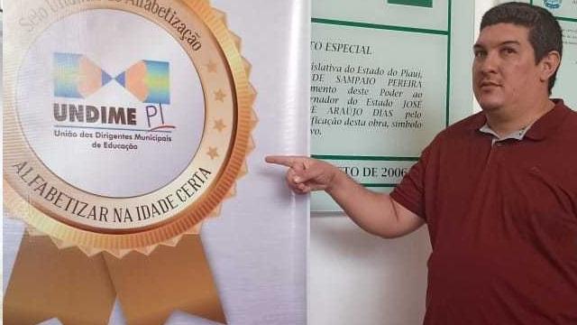 Educação de São Miguel da Baixa Grande recebe Selo UNDIME de Alfabetização em Teresina